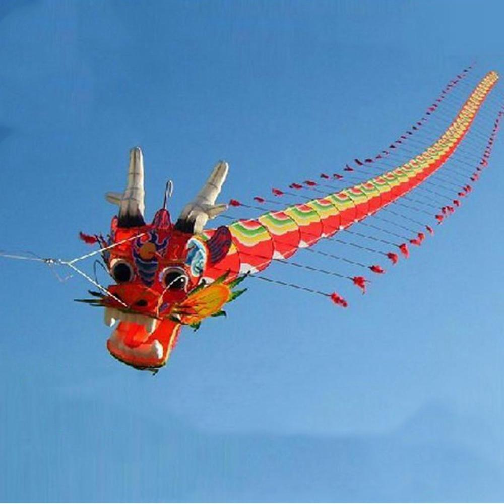 Livraison gratuite de haute qualité 7m chinois traditionnel Dragon cerf-volant chinois cerf-volant Design décoration cerf-volant Wei cerf-volant usine Weifang jouets