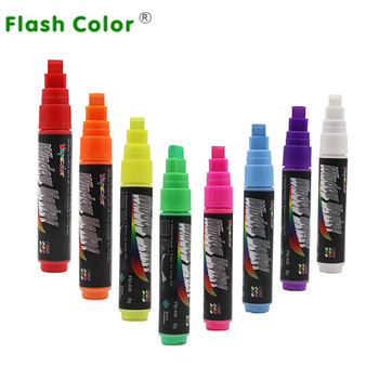 Flashcolor 80pcs/lot Highlighter Liquid Chalk Marker Pen 8mm Writing for Chalkboard Sticker, Marker Lable,Window,Cup, Painting