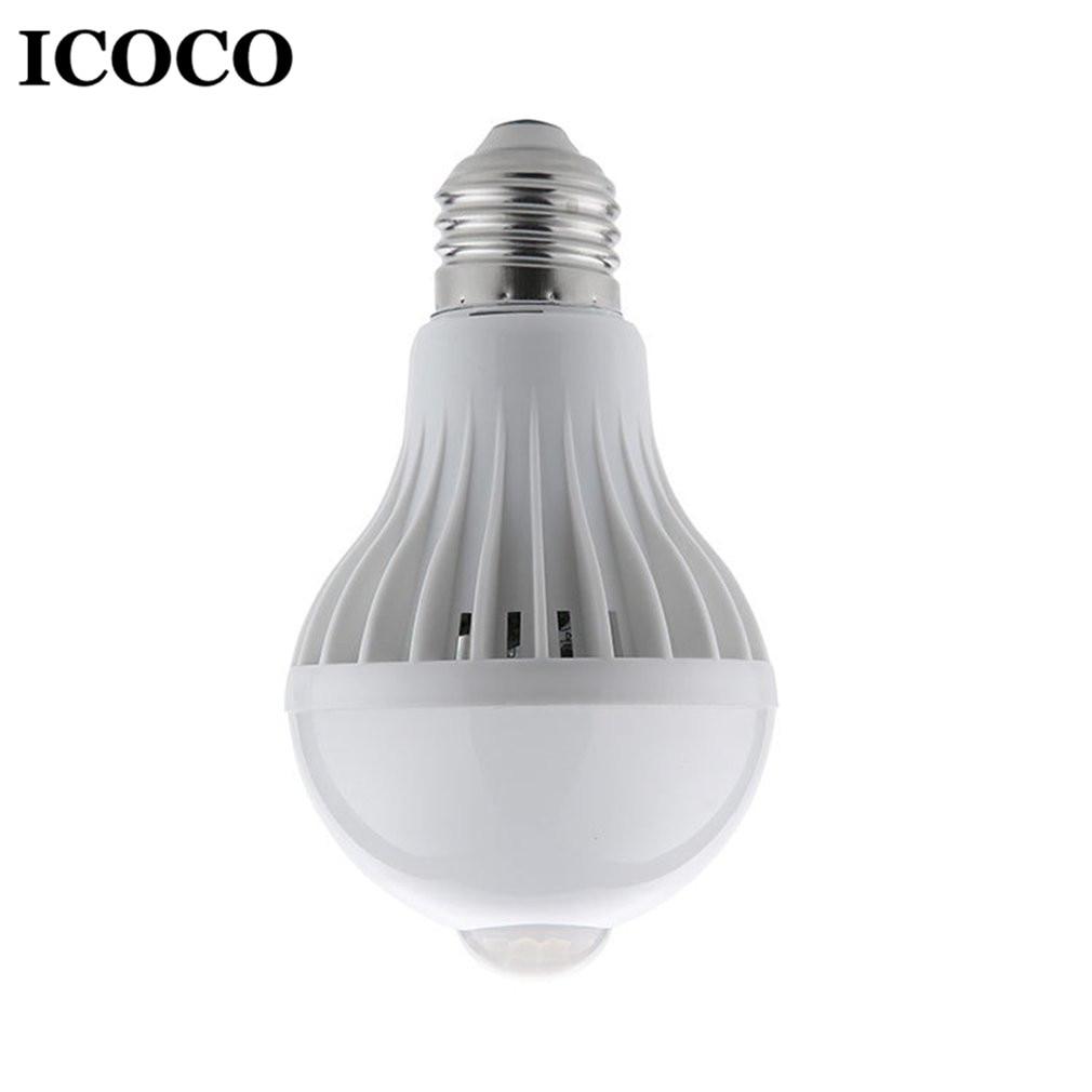 2018 New E27 LED Bulb Night Light Infrared Sensor Human Induction 360 Degree Wall Cabinet Energy Saving Bulb Lamp 5W/7W/9W