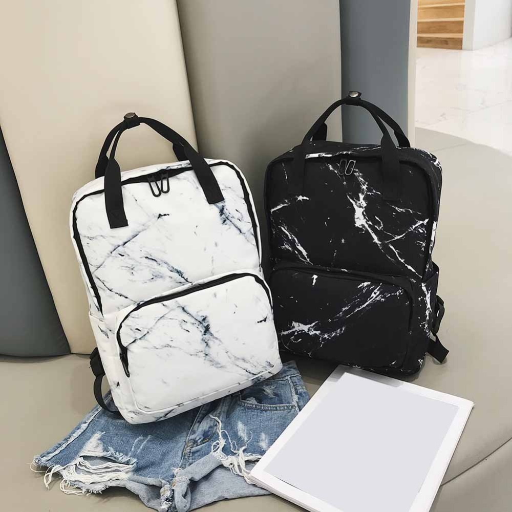 Large Capacity Marble Backpack Female Unisex Women Canvas Backpacks For Teenager Girls Bags Marbling Rucksack School Bag Mochila