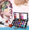 Maquiagem 18 Color Eye Shadows + 2 Blush + Pressed Powder + 3 Lip Frozen + 2 Eyebrow Professional Makeup Sets Wallet Eyeshadow