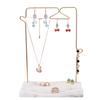 Resin Base Marble Color Chain Display Holder Pendant Necklace Earrings Jewelry Stand Creative Jewellery Display Shelf