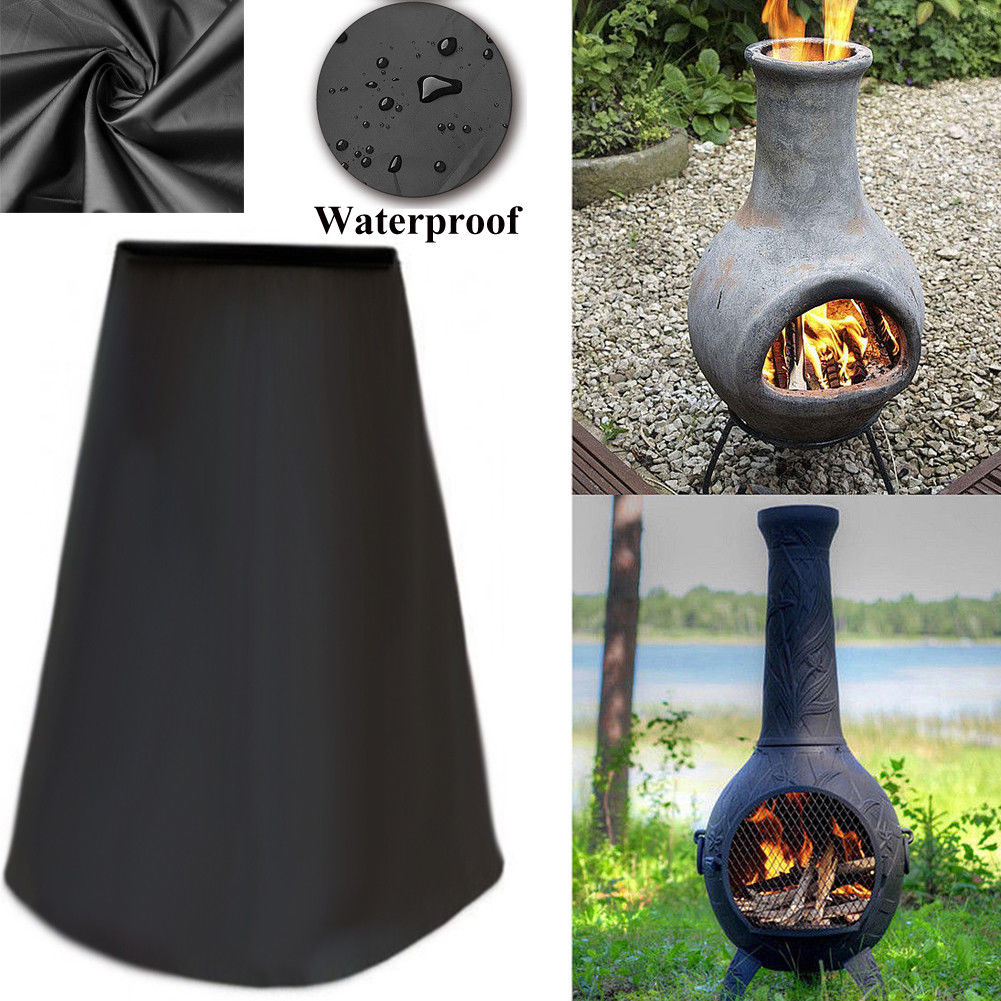 Chiminea Furnace Stove Cover Water Resistant Dust-proof Outdoor Rain ProtectorChiminea Furnace Stove Cover Water Resistant Dust-proof Outdoor Rain Protector