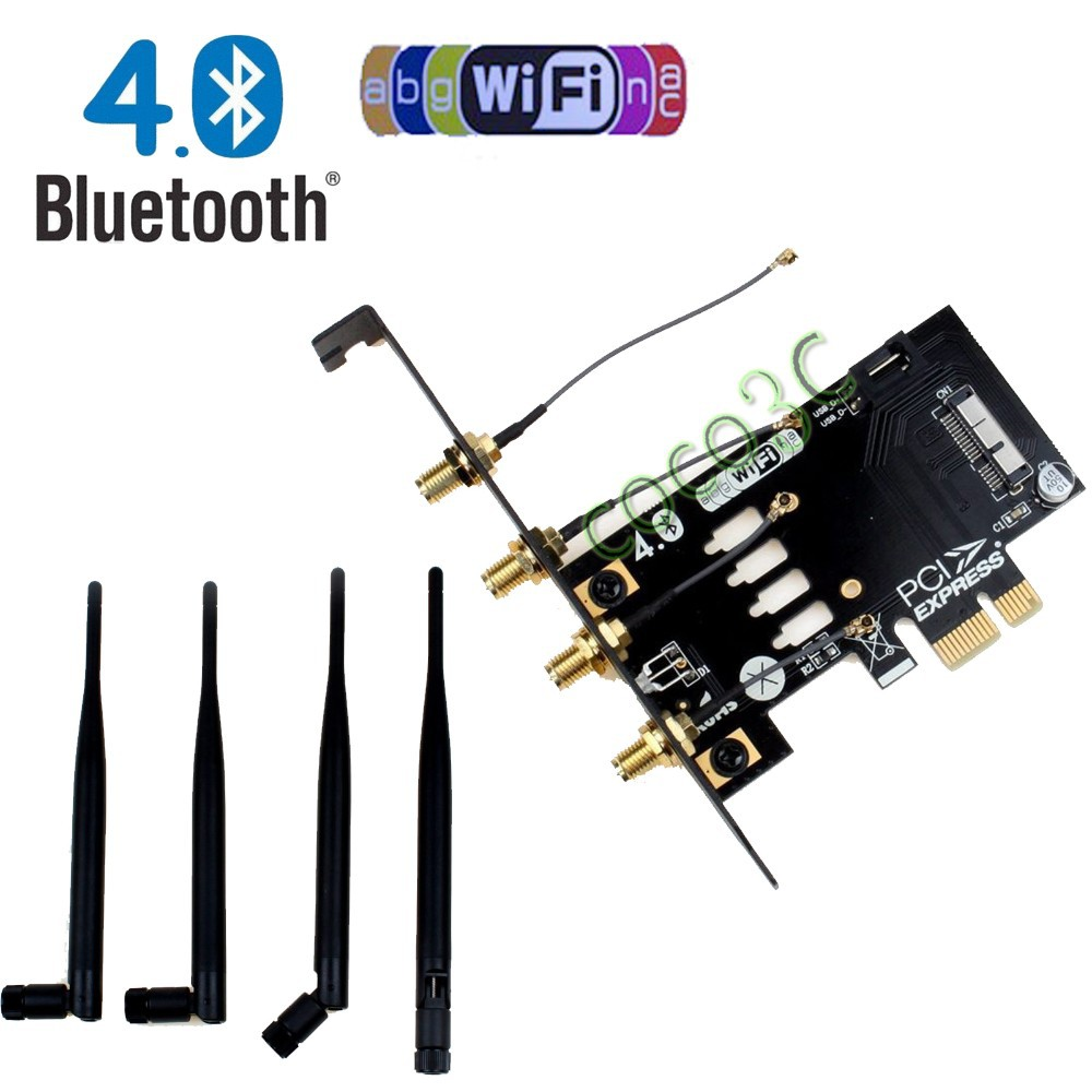 Laptop Wireless Network Card adapter PCI express to 3G bluetooth 4.0 WIFI BCM94360CD BCM94331CD module for macbook Pro Air