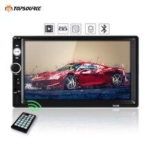 TOPSOURCE Car Radio 7010B HD Player MP5 Touch Screen Digital Display Multimedia USB 2 Din Bluetooth Autoradio Backup Monitor