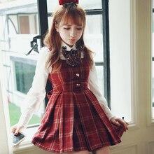 Милое платье принцессы в стиле Лолиты; BoBON21; эксклюзивный дизайн; высокое качество; шерстяной жилет в сетку; D1283