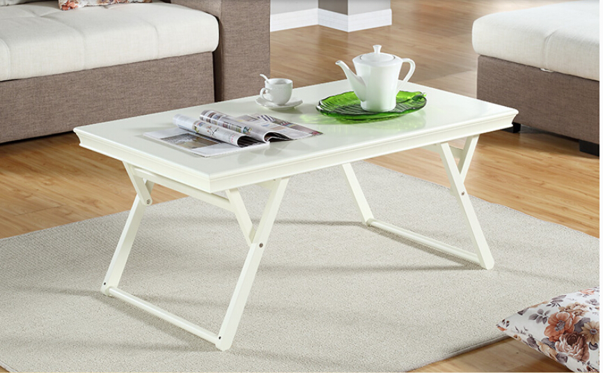 Completely real wood folding table.. Living room desk. Modern simple small family. Small tea table solid wood folding tables rotating computer desk function learning table of small tea table
