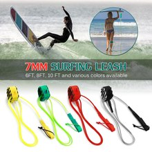 цены High quality Paddle Leash Surf Leash  Surfboard Leash Smooth Steel Swivel Surfing Leg Rope Smooth Steel Paddle board Leash 6FT