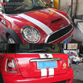 Capó del coche y trasera decal stickers para el mini cooper s F55 F56 R56 r55 clubman personalizado