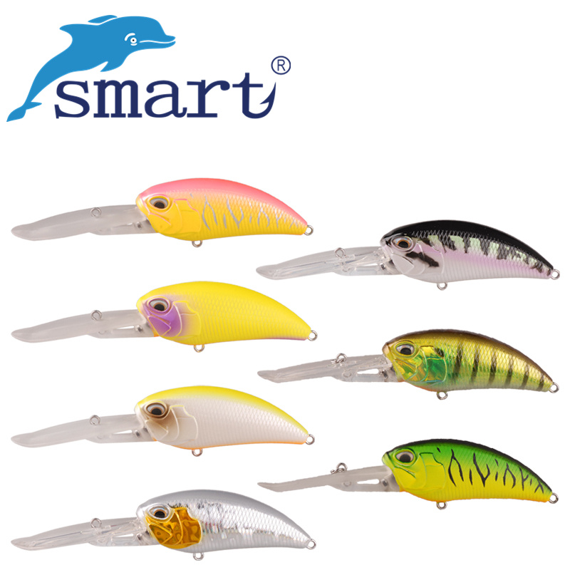 Smart Crank Fishing Lure 85mm/37.2g VMC Hook Hard Bait Floating 5.3-5.9m Isca Artificial Pesca Fishing Wobblers Leurre Souple export prefessional fishing lure minow hard bait 9cm 30g 3 vmc hook laser scale body inside steel balls for every water depth