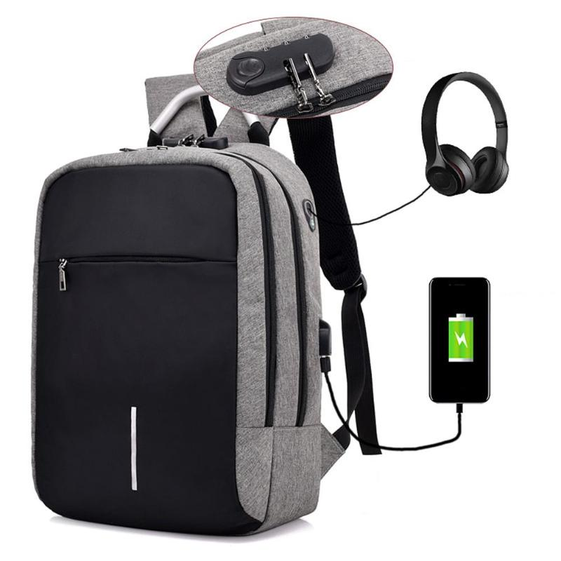 Unisex Usb Charge Anti Theft Backpack Men Canvas Laptop Backpacks Fashion Travel School Bags Bagpack Sac A Dos Mochila Schoolbag