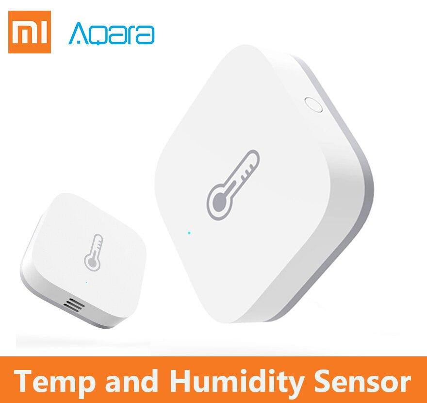 2018 Xiaomi Aqara inteligente de presión de aire de temperatura y humedad ambiente inteligente Sensor de control a través de Mihome APP Zigbee conexión