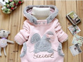 Cartoon Rabbit Fleece Bunny Outerwear Girls Cute Clothes Hoodies Baby Kids Jacket Winter Coat roupa infantil Children Clothing