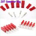 50 set/lote 2-Pin JST Conector Fêmea, masculino e Frisos conector da bateria do rc