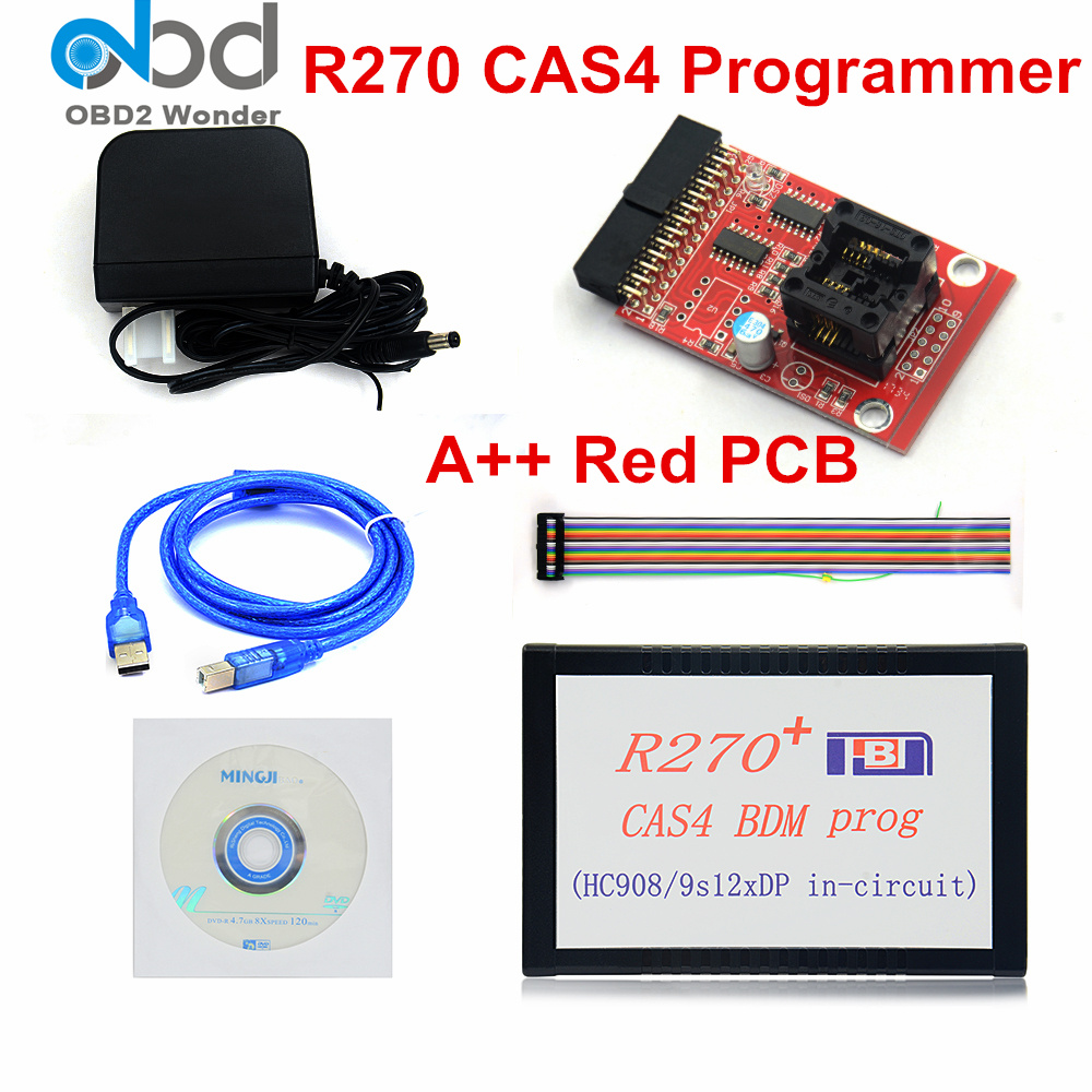 Best Price For <font><b>BMW</b></font> Key Programmer R270 Auto Diagnostic Tool CAS4 BDM Programmer Software V1.2 OBD2 Programmer For <font><b>CAS</b></font> 4 EWS4 image