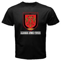 Странные вещи дизайн футболка 2019 Новый албанский вооруженных сил Флаг Албании Элитный батальон в стиле милитари с цветочным принтом; BOS арм...