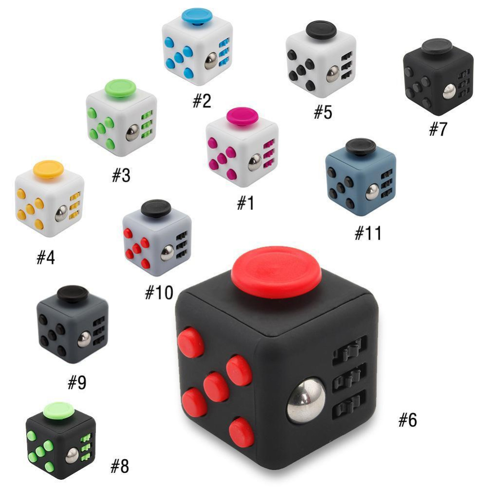 11 Types 3.3cm Fidget Cube Toys A Vinyl Desk Toys For Girl Boys Chrismtas Gifts Fidget Cube Black Green Red Toys Cube dropseller 9 types squeeze stress reliever fidget cube pc vinyl fidgetcube game toy kickstarter fidget toys for girl boys christmas gifts