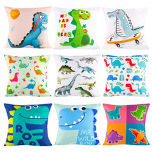 PATIMATE Jungle Party Dinosaur Decoration Pillow Case Gifts Happy Birthday Party Presents for Kids Favors Gifts Dinosaurs Decor happy birthday dinosaurs party favors for kids cute plush dinosaurs key chain pendant gift for boy girls party decoration