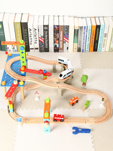 Kids Educational Nut Disassembly Building Blocks Wooden Train Electric Track Set Toys Wooden Train Track Railway Set Kids Gifts electric train track set magnetic educational brio railway wooden train track station toys for child