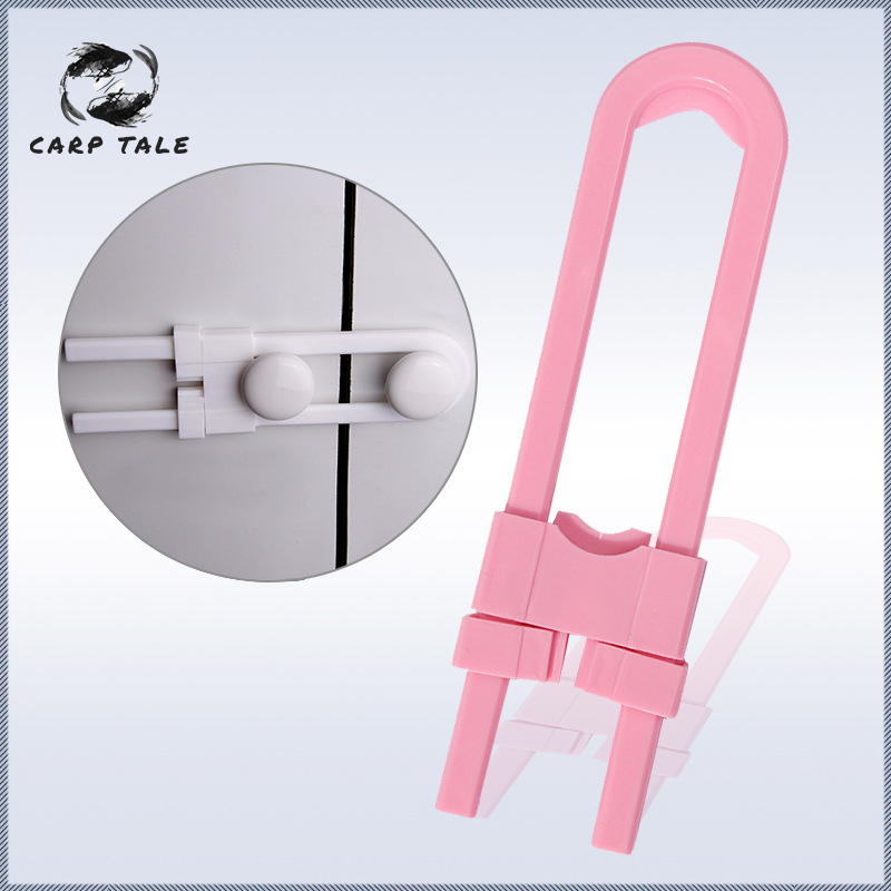 5pcs Baby Safety Lock U Shape Kids Baby Cabinet Locks Children Protection Cabinet Security Door Locking ABS Plastic Non Toxic