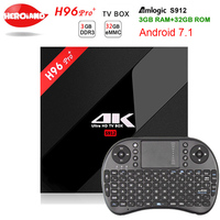 3G/32G H96 Pro Plus + Amlogic S912 H96 Pro Plus Android 7.1 TV Box Octa Core 2.4G/5.8G WiFi 4K H96 Pro Media Player set top box