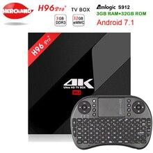 3 г/32 г H96 Pro Plus + Amlogic S912 H96 Pro Plus Android 7.1 ТВ коробка Восьмиядерный 2.4 г/5.8 Г Wi-Fi 4 К H96 Pro медиаплеер телеприставку