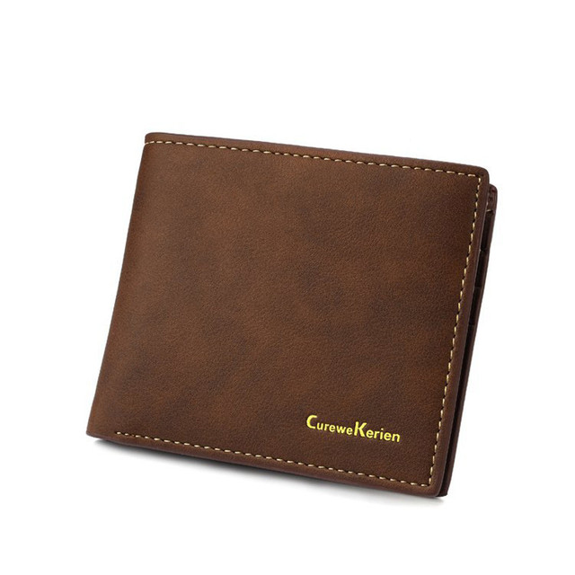 2017 New Brand Men Business Wallet Leather Credit Card Photo Holder Billfold Purse Business Clutch Casual Man Purse Coin Bags