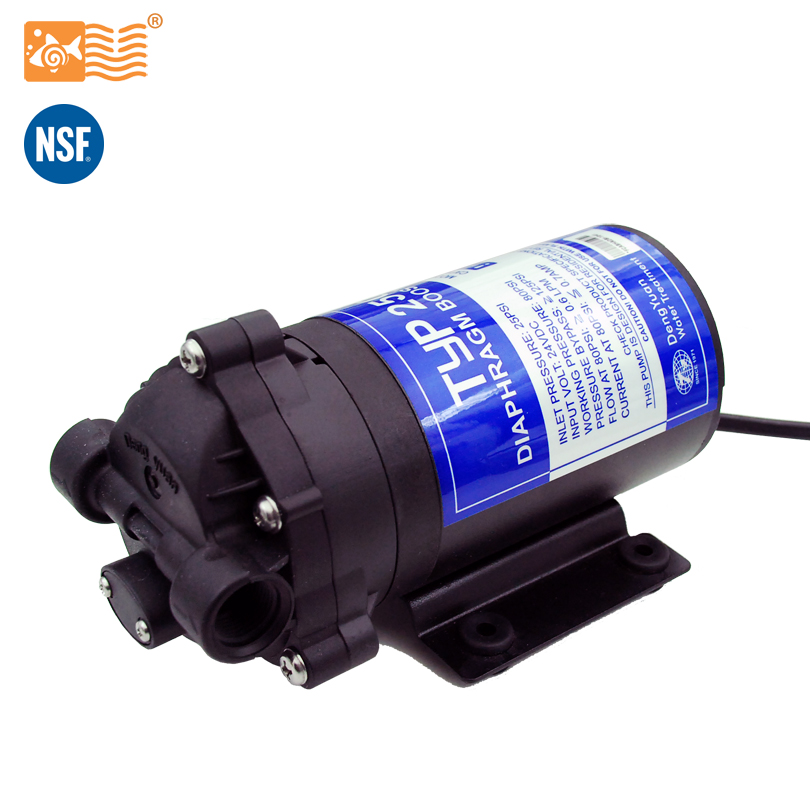 RO 24V 50gpd Water Booster Pump 2500NH Increase Reverse Osmosis Water System Pressure ro water filter parts 24vdc water pump high pressure booster for 50 75 gpd machine increase reverse osmosis system pressure