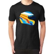 Moda Graphic Tees Fernando Alonso casco ilustración coche Racinger camiseta nueva camiseta de los hombres