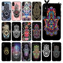 Yinuoda Hamsa Hand Amulet Psychedelische Zachte Siliconen TPU Telefoon Cover voor iPhone 8 7 6 6S Plus 5 5S SE XR X XS MAX Coque Shell(China)