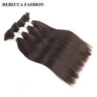 Rebecca Brazilian Remy Straight Bulk Human Hair For Braiding 4 Bundles Free Shipping 10 To 30