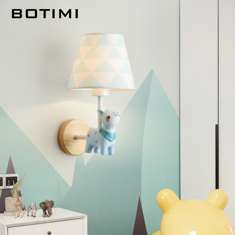 US $54.45 45% OFF|BOTIMI LED Cartoon Wall Lamp Children Wall Sconce Girls  Wall Lamps Boys Bedside Lights Wall Mount For Baby Room Kids Luminaire-in  ...