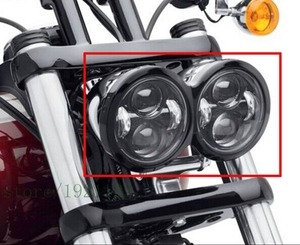 Image 2 - for Harley Fat Bob FXDF 08 16 Motocycle LED Motor Headlamp Headlight For FatBob Dual Headlamp