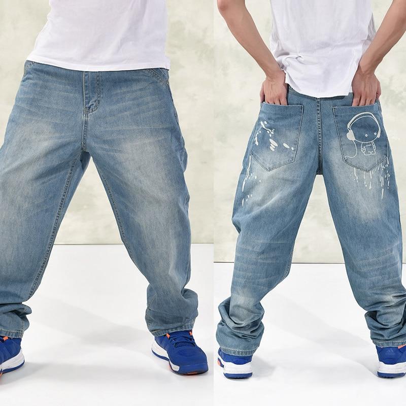 Fashion Hip-hop men jeans plus size 44 46 fertilizer to increase new 2016