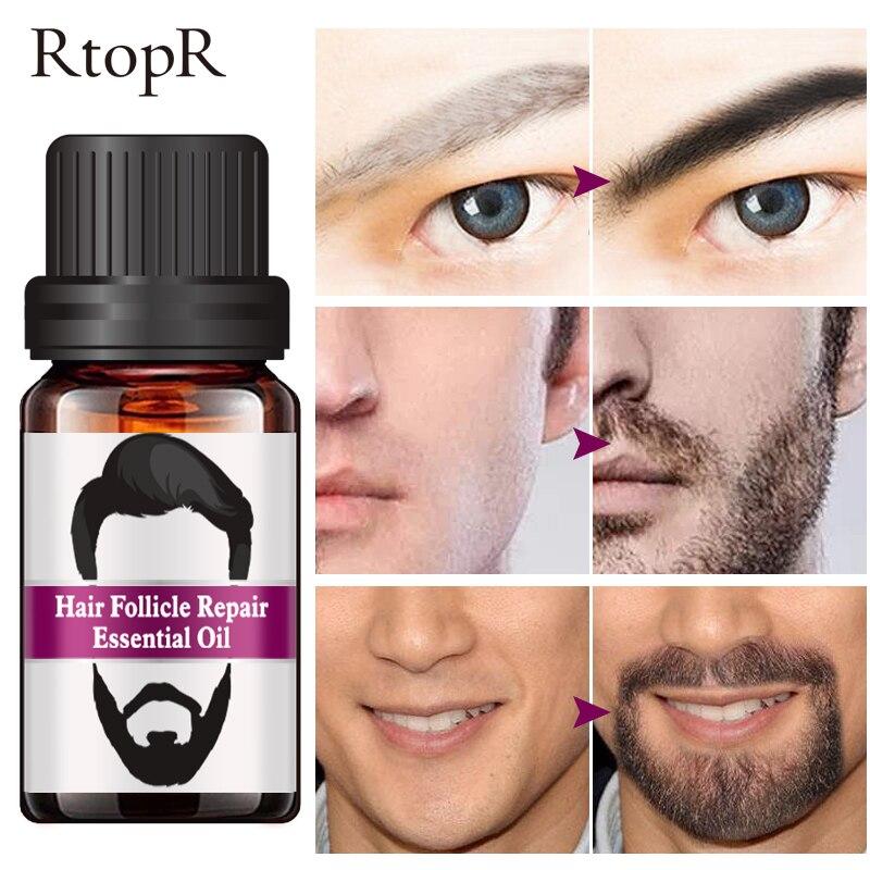 RtopR Hair Follicle Repair Oil Men Styling Moustache Oil Hair Growth Of Beard Body Hair Eyebrow Care Moisturizing Smoothing 10ml 3