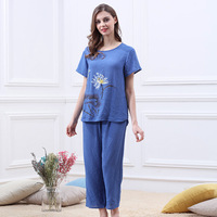 Pijama Feminino Pajamas Cotton Pyjamas Plus Size Women Summer Pajama Set