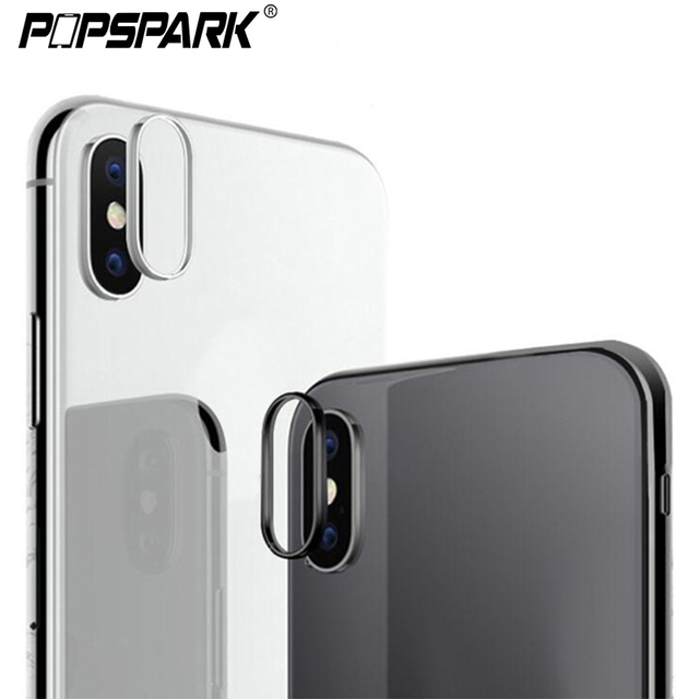 timeless design 6bb20 cc7bd US $0.66 31% OFF|For iPhone X Camera Lens Protector Ring Plating Aluminum  for iPhone 7 8 6 6S Plus XR XS Max Camera Case Cover Ring Accessories-in ...