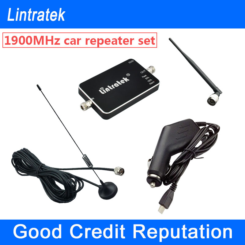 NEW Lintratek Vehicle font b GSM b font 1900Mhz Car Signal Repeater Mini PCS 1900 Cellphone