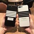 Мода ТБ Полоса ТПУ Чехол Задняя Крышка Для iPhone 7 7 Plus Том Браун Нью-Йорк Телефон Дело