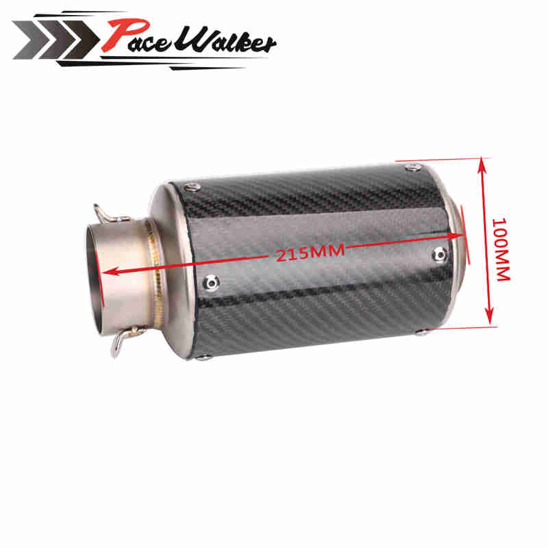 Motorcycle Exhaust Pipe Scooter Modified Carborn Fiber Muffler exhaust pipe For KAWASAKI ER6N BMW S1000RR
