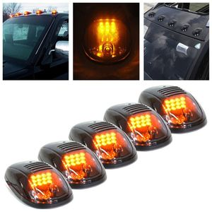 2019 New Smoked 5Pcs 12 LED Cab Roof Running Marker Lights Truck SUV Off Road Set Car decoration light