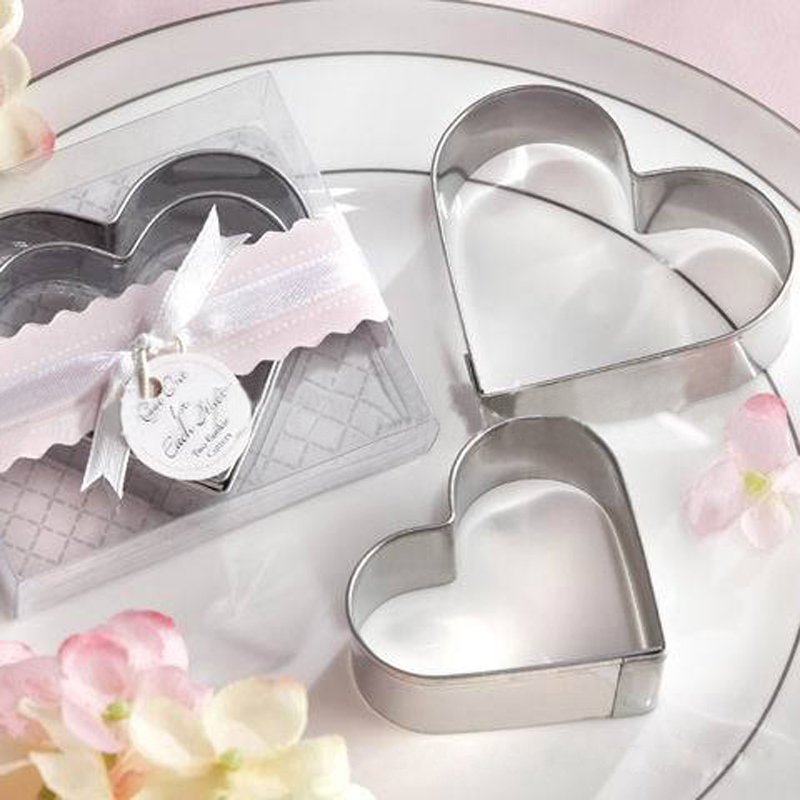10 Pcs/set Wedding Gifts and Favor stainless steel heart-shaped cake mold cake cookie cutter love omelette device Hot sale #03