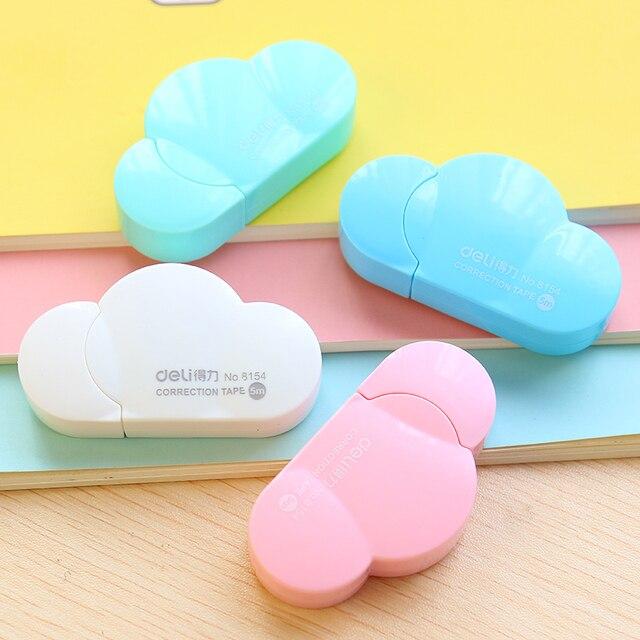 5 мм х 5 м deli мило каваи облако мини-небольшая коррекция ленты корейского сладкий канцелярские новинка офис школы малышей поставляет детские