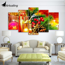 ArtSailing 5 piece canvas art HD print Christmas gift painting christmas decorations for home wall free shipping up-2184B