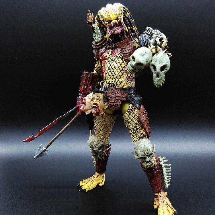 NECA Alien vs. Predator series Yellow Elder Predator doll Movable joints Skull neca kontra bill