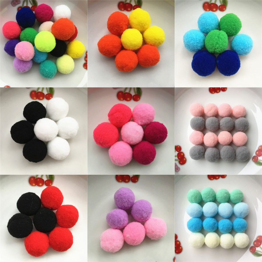 Buy 20g 20pcs 30mm mix mulit color for Where to buy pom poms for crafts