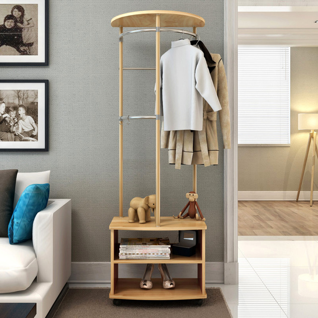 Tremendous Us 162 4 13 Off Lk1673 Hall Coat Rack With Roller Simple Hanger Floor Fashion Multi Purpose Locker Clothes Dress Hanging Rack With 5Pcs S Hooker In Download Free Architecture Designs Rallybritishbridgeorg