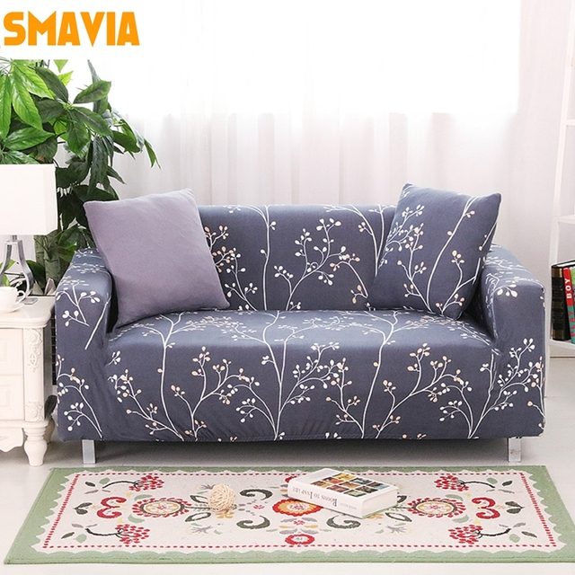 Black Design Series Sofa Cover Elasticity Stretch 1 2 3 4