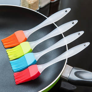 Multi Functional Silicone Baking Bakeware Bread Cooking Brushes Pastry Spatula Oil BBQ Basting Brush Tool Color Random