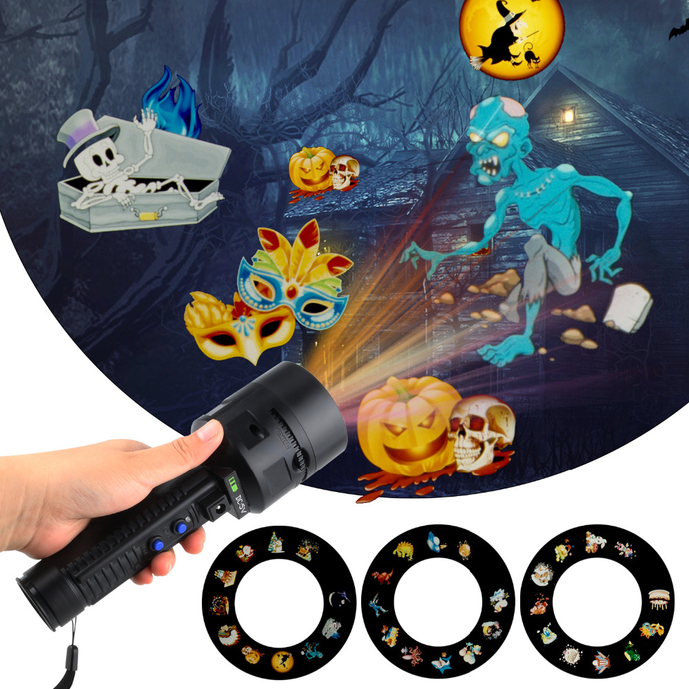 33pcs Slides Christmas Projector Laser Lights Flash Light Lamp For Easter Birthday Party Holiday Xmas Christmas Decorations